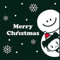 눈꽃 스티커 크리스마스 장식 시트지 LMXM-054 루씨와 눈사람