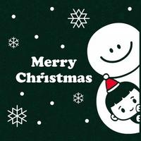 눈꽃 스티커 크리스마스 장식 시트지 LMXM-053 레오와 눈사람