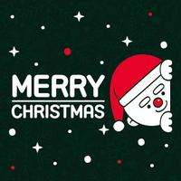 눈꽃 스티커 크리스마스 장식 시트지 LMXM-022 까꿍 산타