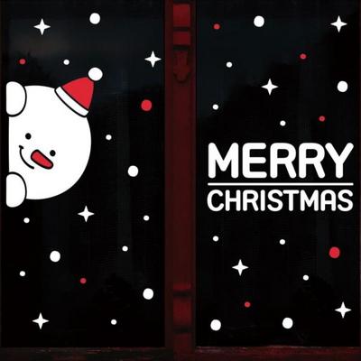 눈꽃 스티커 크리스마스 장식 시트지 LMXM-024 까꿍 눈사람