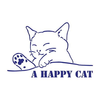 스텐실 도안(ST-2120) 행복을 주는 고양이