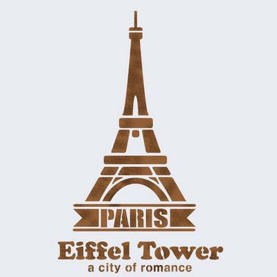 벽화스텐실 도안(MF-1526) 에펠탑