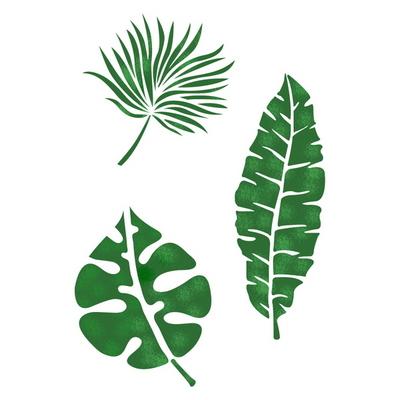 스텐실 도안(ST-3114)열대야 나뭇잎