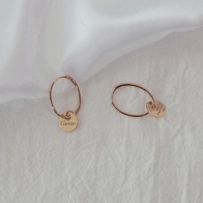 14K 코인 링 원터치 귀걸이