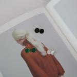 14K 사색 원석 침 귀걸이 (오닉스,말라카이트,자개,라피스라줄리)