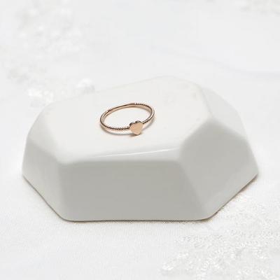 14k 스핀 하트 반지