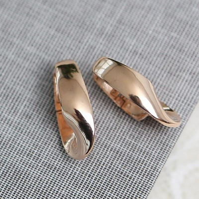 14K 링 꼬임 원터치 귀걸이