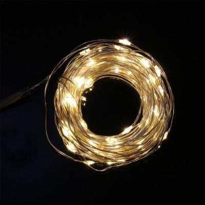 [은하수] USB연결형 100구 LED 와이어 전구(10M) (웜색)
