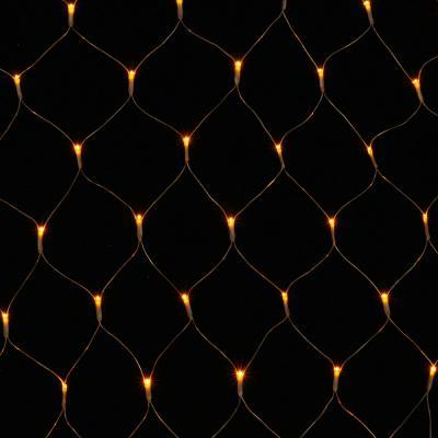 [은하수] 200구 투명선 LED 그물네트 웜색 지니전구(1x2M) (점멸有) (연결가능)