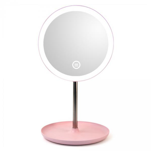 LED 메이크업 조명거울(핑크)