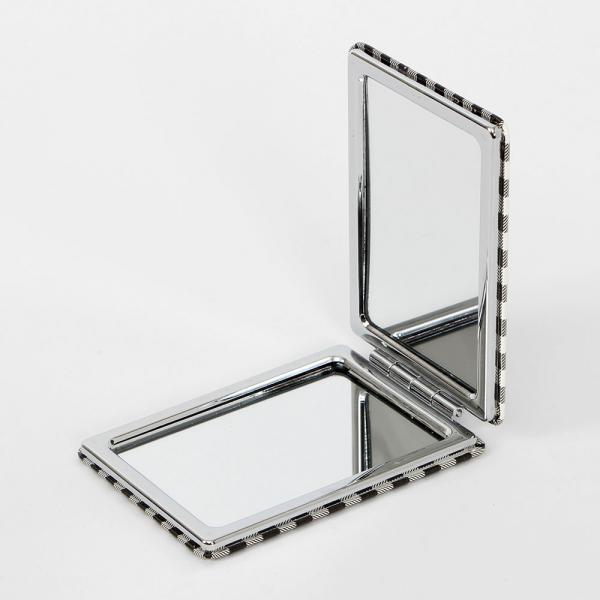 클래식체크 양면 손거울