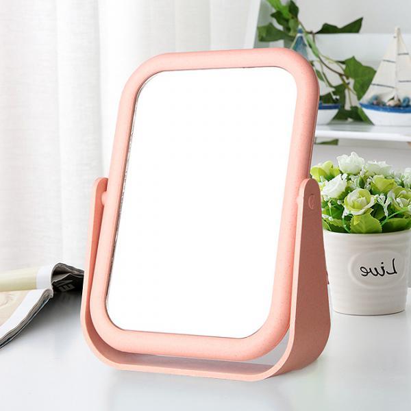 스탠드 양면거울/학원판촉인쇄용 화장대거울 탁상거울
