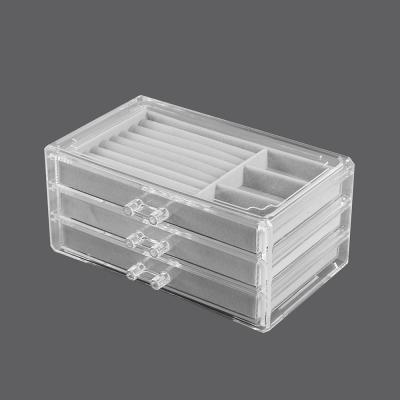 투명 액세서리 보관함(그레이)/서랍형 액세서리케이스
