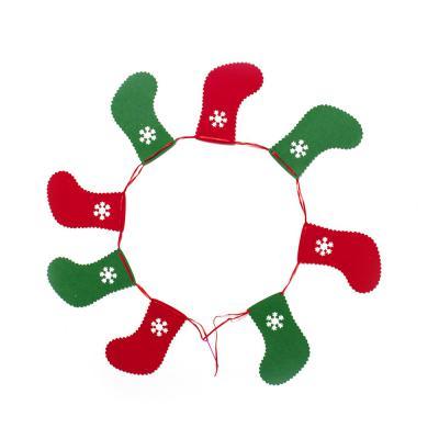 크리스마스 패브릭 가렌드(양말)/성탄 트리 벽장식