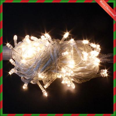 100구 투명선 LED 웜색전구(8M)/크리스마스 트리전구