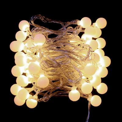 50구 투명선 LED 구슬전구 웜색(5M) (컨트럴박스有) (연결가능)