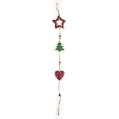 별 하트 나무 장식/크리스마스소품 오너먼트 벽장식