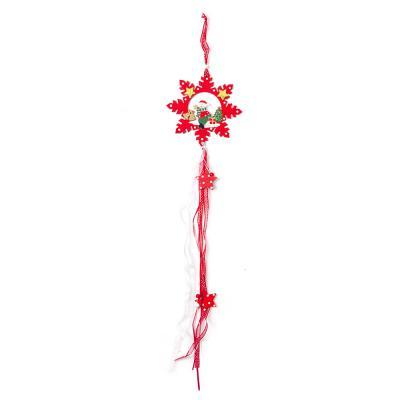 빨강 눈꽃 나무 장식/크리스마스소품 오너먼트 벽장식