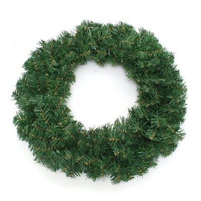 60cm 레드 포인세티아 원형 리스/DIY 크리스마스리스