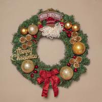 50cm 메리산타 원형 리스/DIY 크리스마스리스 벽장식