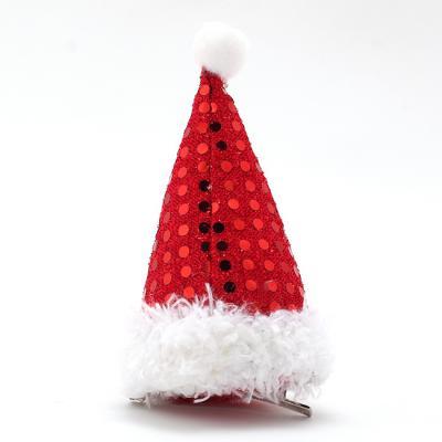 산타모자 머리핀(11cm) 크리스마스 머리삔