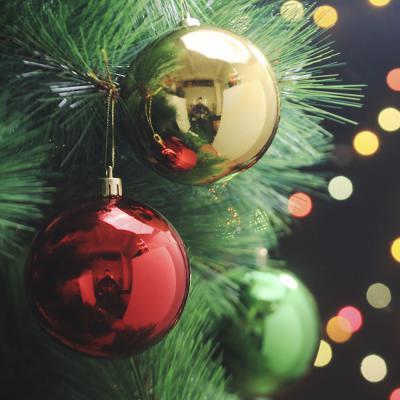 크리스마스트리 유광볼 6개 8cm 혼합색상 장식