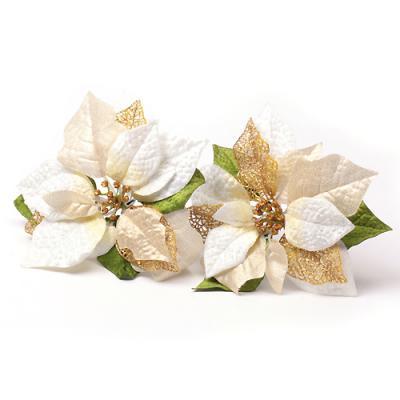 2p 크리스마스 포인세티아(화이트) (大) 꽃장식