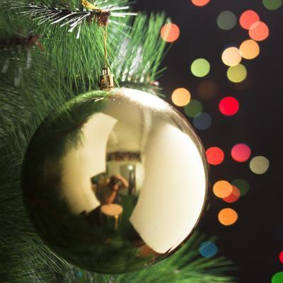 성탄 장식 골드 유광볼 12cm 크리스마스