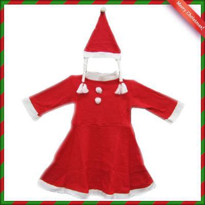 원피스 산타복(8세내외) 어린이 여자 산타복세트