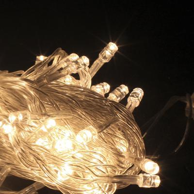 NEW 100구 투명선 LED 웜색전구(8M) (점멸有) (연결가능) (150cm∼500cm트리용)