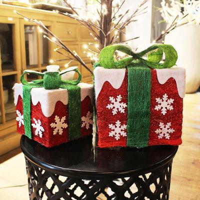 크리스마스 소품 트리와 선물상자/카페인테리어소품