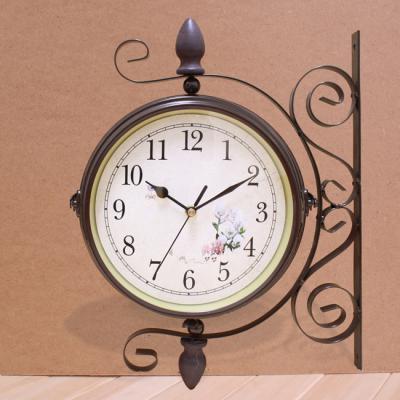 앤틱 양면 벽시계/집들이선물 인테리어시계 양면시계