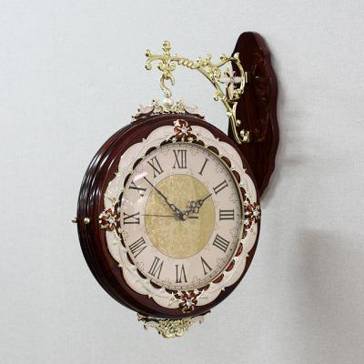 엔티크 원목 양면 벽시계/인테리어시계 양면시계