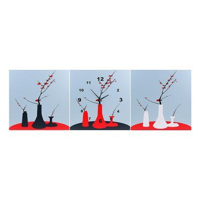 매화 액자형 인테리어벽시계/선물용 디자인 벽걸이시계