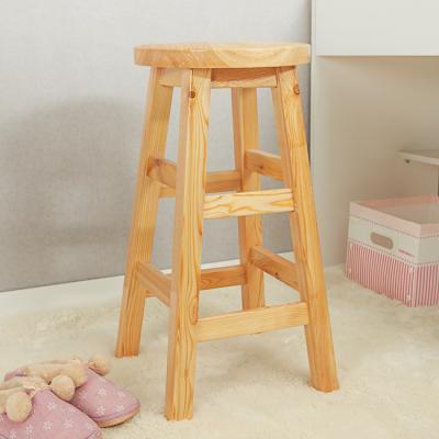 60cm 원목 원형 선반 겸 의자/화분받침 DIY 원목 스툴