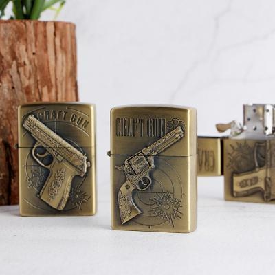 권총 메탈케이스 라이터/오일라이타 담배라이터