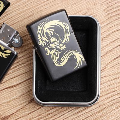 애니멀프린트 블랙케이스 라이터/선물용 오일라이타 담배라이터