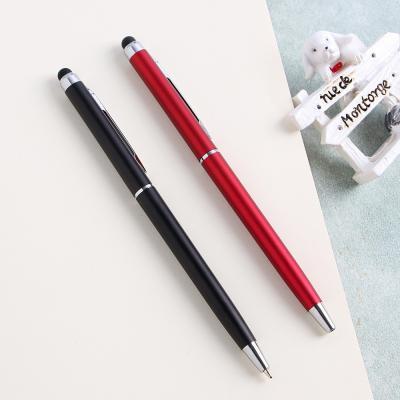 스마트폰 터치가능! 검정 볼펜 10P세트/단체선물 필기구 터치펜