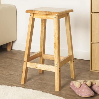 60cm 원목 사각 의자 스툴 보조의자