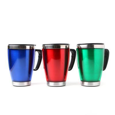 곡선형 스텐 보온컵(400ml)/행사판촉선물용 텀블러 컵