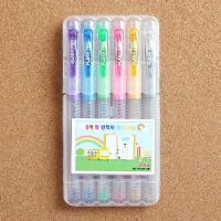 롤러볼 젤리펜 6색세트/학생용 사무용 반짝이 펄 볼펜