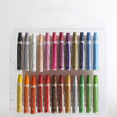 (파버카스텔)24색 크레파스/미술학원판촉용 학원판