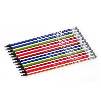 (모나미) 12p 삼각 지우개 HB 연필/학교납품