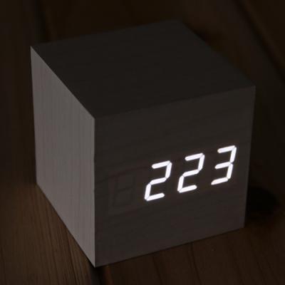 LED 디지털 우드 탁상시계/원목시계 인테리어시계