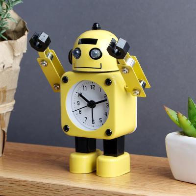 하이 로봇 알람 탁상시계/불빛기능 로봇시계 알람시계