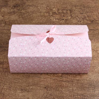 잔꽃 리본 선물상자/오픈아치형 선물포장 종이상자