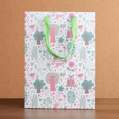 비비드 플라워 쇼핑백/선물포장용 종이백 종이가방