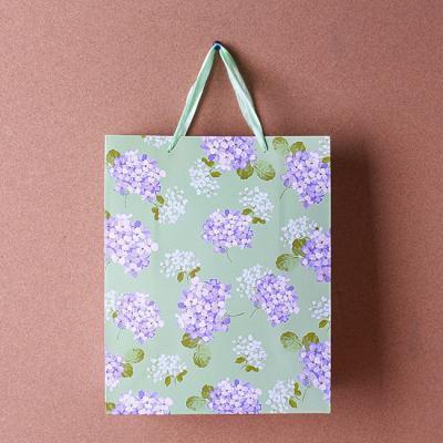 플라워 반짝이 쇼핑백/선물포장용 종이가방 선물가방