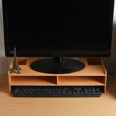 2단 데스크 모니터받침대/컴퓨터 책상정리 모니터선반