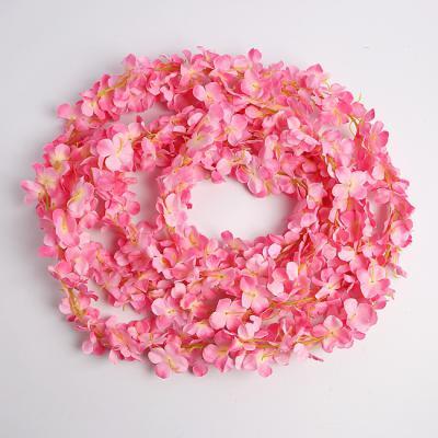 꽃장식 조화 넝쿨(2M) (핑크)/넝쿨장식 조화인테리어